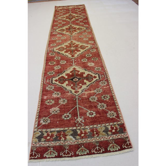 "Vintage Turkish Anatolian Runner - 2'10"" X 13' - Image 3 of 7"