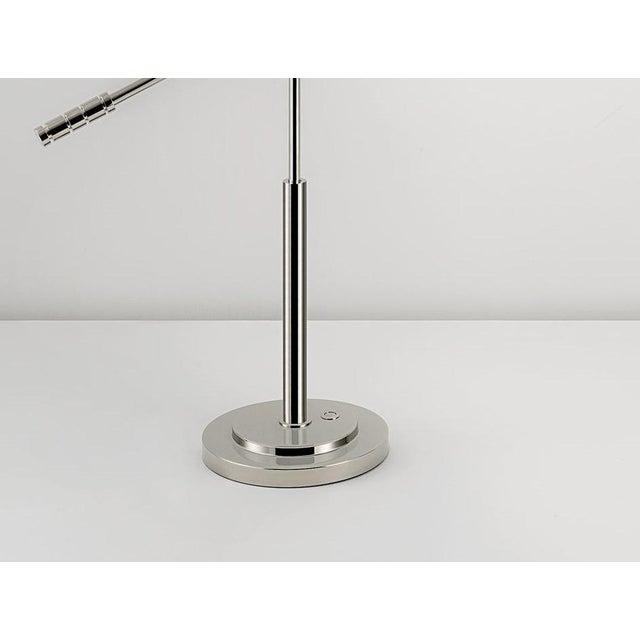 Not Yet Made - Made To Order Polished Nickel Adjustable Desk Light For Sale - Image 5 of 6