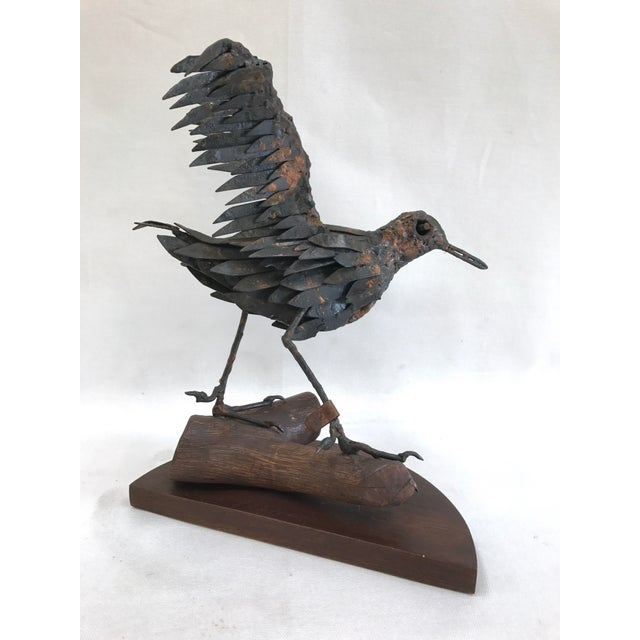 Vintage Copper Sandpiper Sculpture For Sale - Image 4 of 11