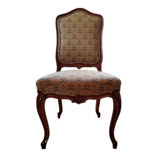 Late 19th Century Louis XV Style Upholstered Accent Chair For Sale