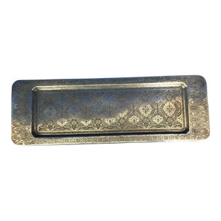 Antique Islamic Style 84 Silver Tray