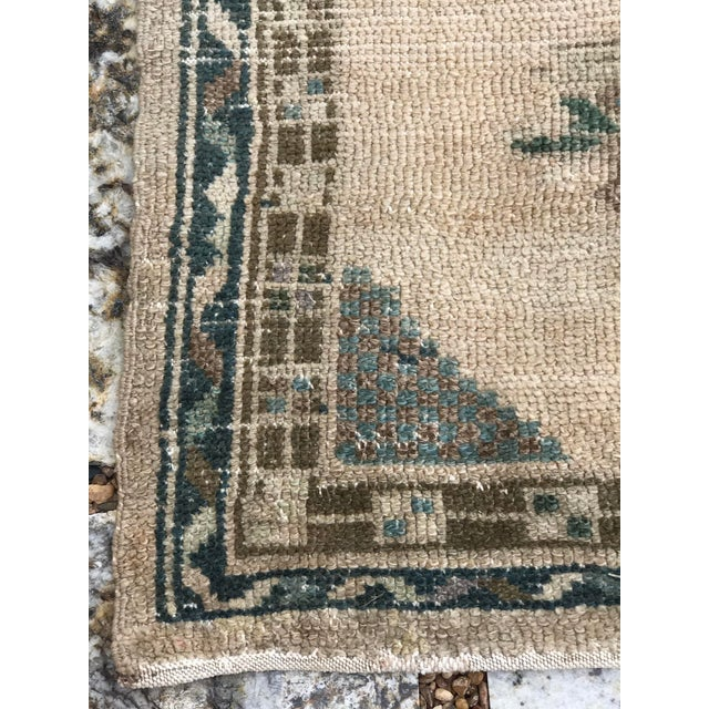 """Textile Hand Made Vintage Turkish Area Rug- 3'3""""x4'2' For Sale - Image 7 of 10"""