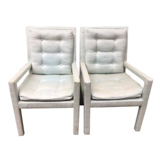 1970s Vintage Parsons Arm Chairs - a Pair For Sale