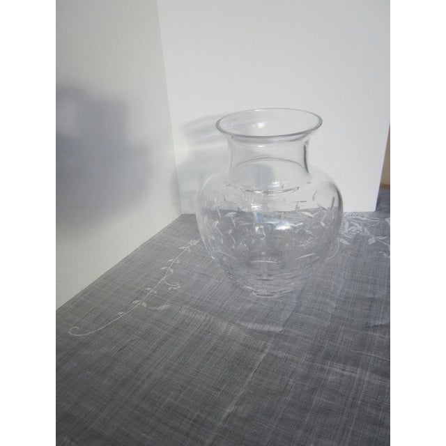 Authentic Tiffany Crystal Glass Vase - Image 3 of 7
