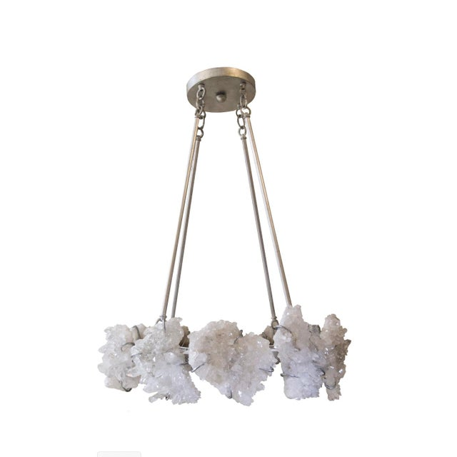 """One of Marjorie's stars, the """"La Tache"""" chandelier is comprised of hand selected quartz clusters which are mined in the..."""