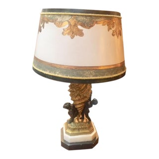 19th C. French Bronze Fragment Converted to Lamp For Sale