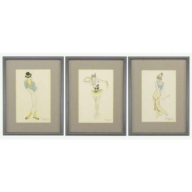 "Set Three Walter Schnackenberg (1880-1961) ""Ballet Und Pantomime"" Tinted Prints For Sale - Image 9 of 9"