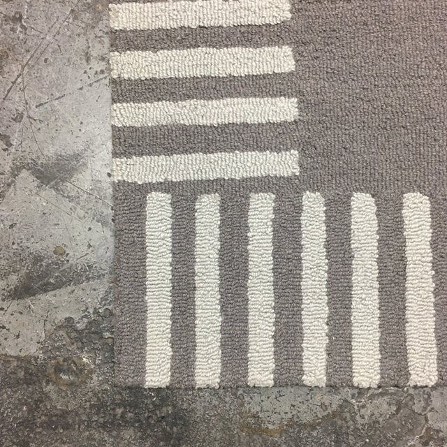 Gray Striped Area Rug - 5' x 8' - Image 8 of 9