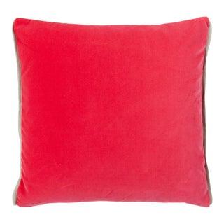 Varese Bright Fuchsia & Saffron Velvet Cushion For Sale