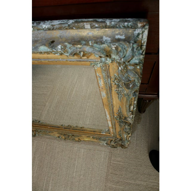 1800s Antique Gold Mirror For Sale - Image 5 of 6