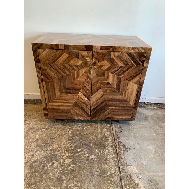 Wood Made Goods Banana Leaf Jada Cabinet For Sale - Image 7 of 7