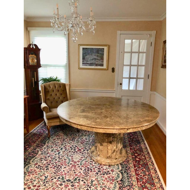 Mid 20th Century Mid-Century Round Marble Dining Table For Sale - Image 13 of 13
