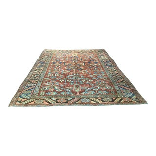 1920s Vintage Persian Heriz Rug - 8′ × 11′ For Sale