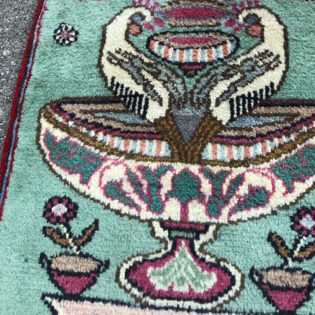 """White 1980s Persian Pictorial Yalameh Rug - 1'6"""" X 2'7"""" For Sale - Image 8 of 13"""