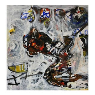 Contemporary Abstract Collage by Fern Samuels For Sale