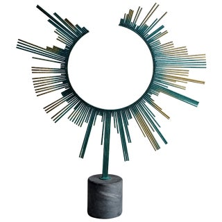 Rare Curtis Jere Sunburst Table Sculpture, Signed For Sale