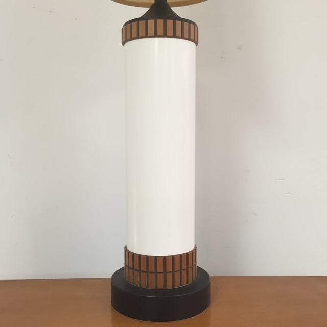 Mid-Century Cylinder Table Lamp - Image 4 of 10