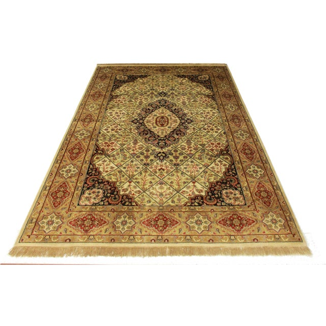 """Persian Style Handmade Rug - 6' X 8'10"""" For Sale"""