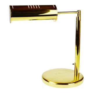 Vintage Brass Swing Arm Bankers Desk Lamp For Sale