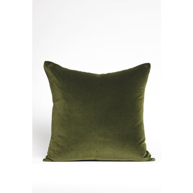 Contemporary Contemporary Green Velvet Pillow - 22ʺW × 22ʺH For Sale - Image 3 of 3