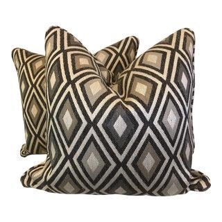"Clarke & Clark ""Cherokee"" 22"" Pillows-A Pair For Sale"