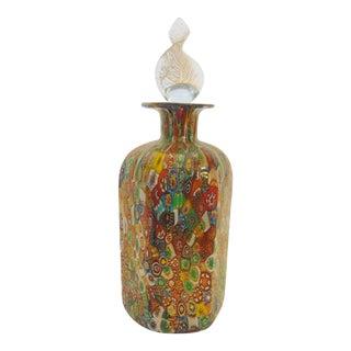 Italian Murano Glass Millefiori Perfume Bottle For Sale
