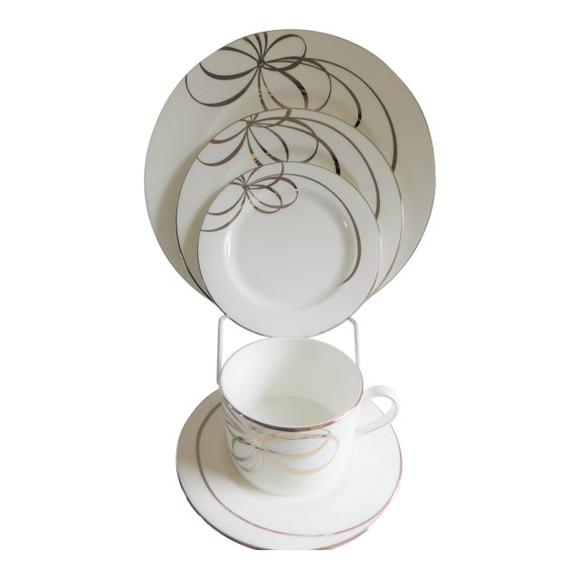 40 Piece Set - Kate Spade Lenox Belle Boulevard Porcelain Dinnerware -Service for 8 For Sale