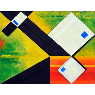 White Abstract Cubes, 1966 For Sale