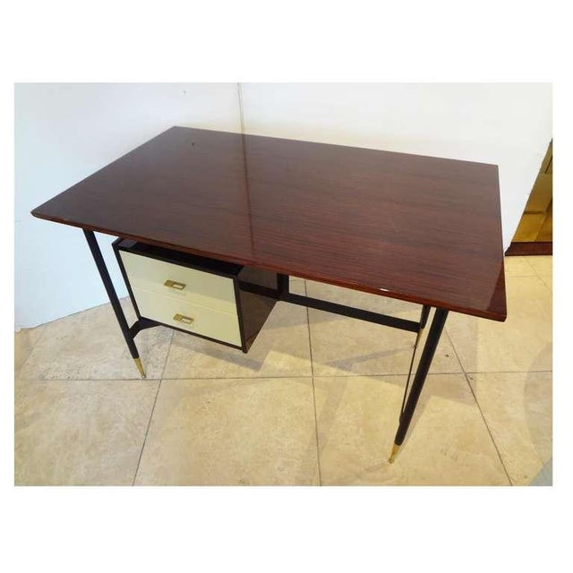 Mid-Century Writing Desk in Mahogany and Lacquer, Italy Circa 1955 For Sale In New York - Image 6 of 6