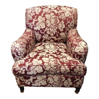 21st Century Vintage George Smith Upholstered Chair For Sale