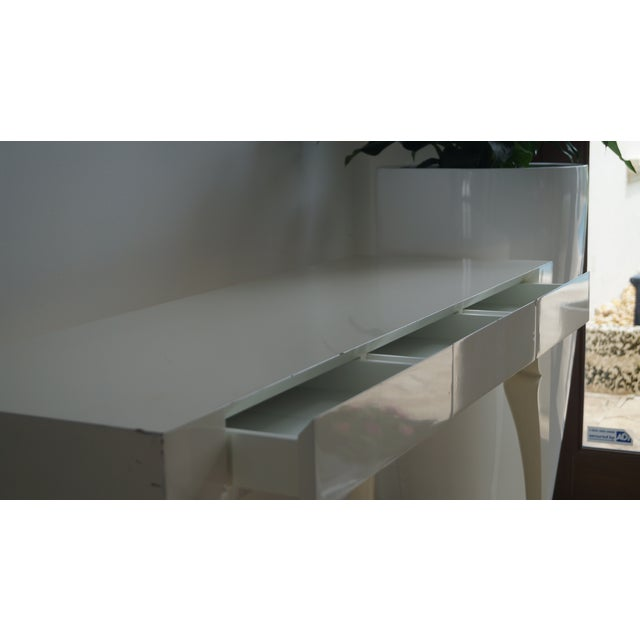 Reeves Design Ivory Wood Console Table For Sale - Image 4 of 7