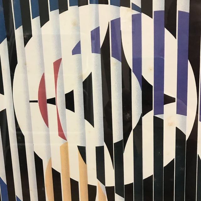 """1980s Yaacov Agam """"Birth of a Flag"""" Lithograph Signed For Sale - Image 5 of 8"""