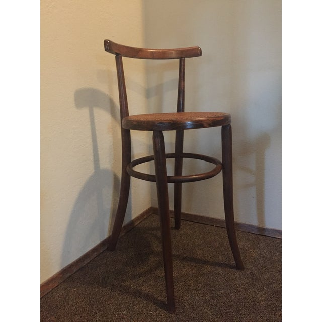 1930s Antique Thonet Style Bentwood Counter Bar Stool For Sale - Image 13 of 13