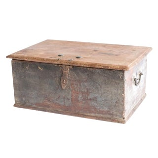 19th Century Painted Merchant Box