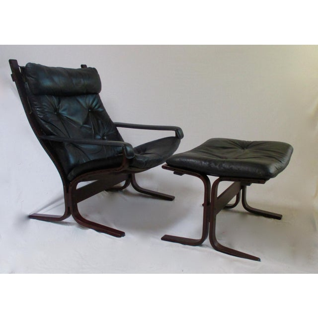 Siesta Westnofa Rosewood Armchair & Ottoman - A Pair For Sale - Image 9 of 11