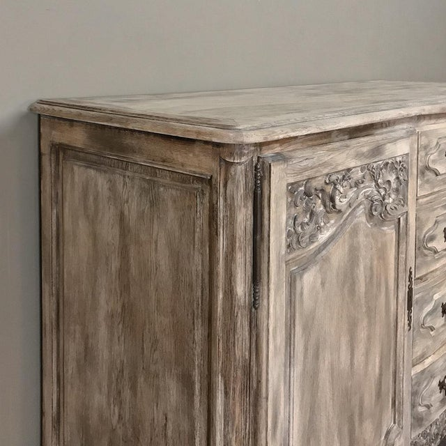 19th Century Country French Normandy Painted Buffet For Sale - Image 4 of 13