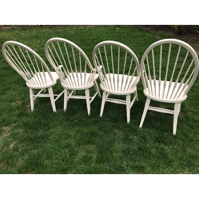 Farmhouse Windsor Chairs - Set of 4 - Image 6 of 9