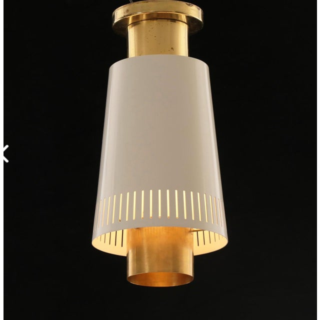 Mid-Century Modern Pair of Ceiling Lights by Paavo Tynell For Sale - Image 3 of 6