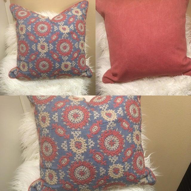 Ralph Lauren Ralph Lauren Layla Embroidery Pillow For Sale - Image 4 of 5
