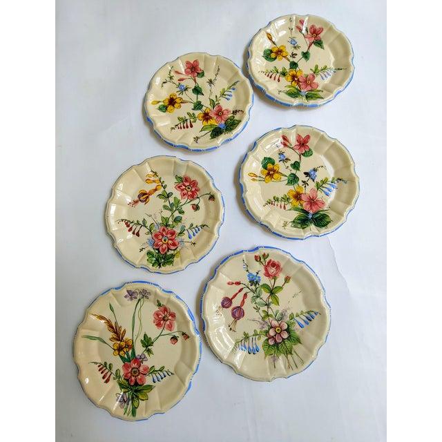 Ceramic 1930s Nove Rose Plates - Set of 6 For Sale - Image 7 of 7
