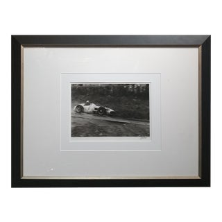 Juan Manuel Fangio,Mercedes,GP Belgium 1955-Silver Gelatin-Jesse Alexander-Signed