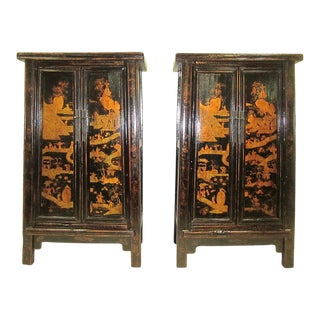 Paired 19th Century Wedding Cabinets For Sale