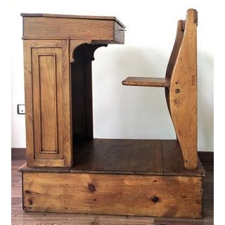 1940s Children's Adjustable Spanish School Desk in Wood Preview