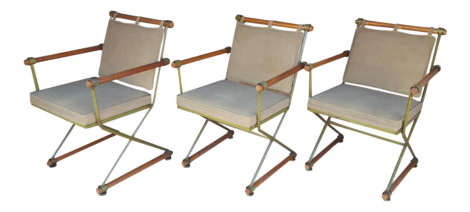 Cleo Baldon Campaign Chairs   Set Of 3