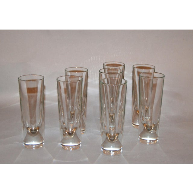 Set of 8 Carlo Moretti Modern Heavy Blown Glass Drinking Glasses Glassware Italy For Sale - Image 11 of 11