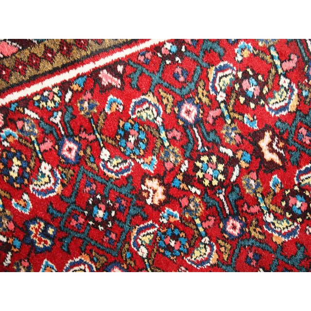 Textile Vintage Persian Hamadan Runner- 2′7″ × 7′ For Sale - Image 7 of 10