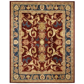 Kafkaz Peshawar Yasmin Red/Blue Wool Rug - 12'2 X 15'7 For Sale