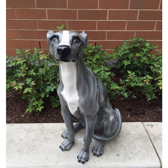 Italian Italian Ceramic Dog Sculpture For Sale - Image 3 of 6