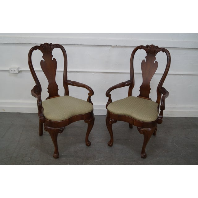Walnut Georgian Queen Anne Dining Chairs - 6 - Image 5 of 10