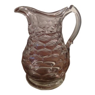English Honeycomb Crystal Jug